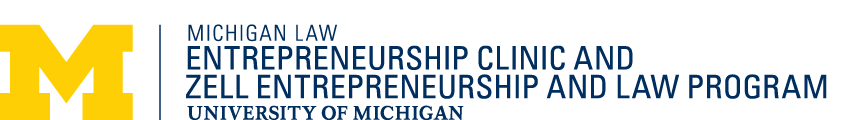 University of Michigan Law School Zell Entrepreneurship and Law logo